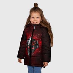 Куртка зимняя для девочки Pirate Station: Blood Face цвета 3D-черный — фото 2