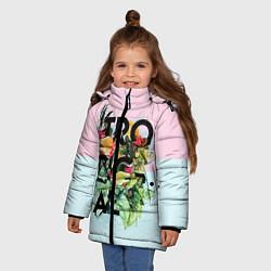 Куртка зимняя для девочки Tropical Art цвета 3D-черный — фото 2