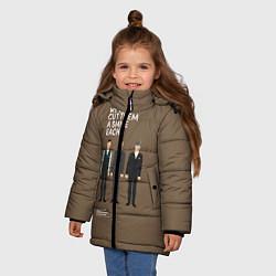 Куртка зимняя для девочки We'll cut them a smile each цвета 3D-черный — фото 2