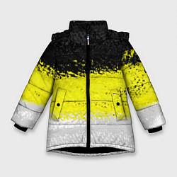 Куртка зимняя для девочки Имперский флаг 1858 года цвета 3D-черный — фото 1