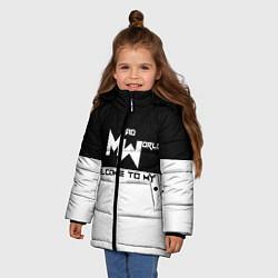 Куртка зимняя для девочки Безумный мир цвета 3D-черный — фото 2