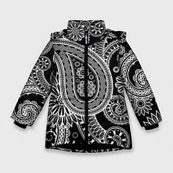 Куртка зимняя для девочки Paisley цвета 3D-черный — фото 1