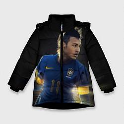 Куртка зимняя для девочки Neymar: Brasil Team цвета 3D-черный — фото 1