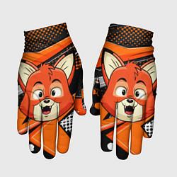 Перчатки Рыжая лисичка цвета 3D — фото 1