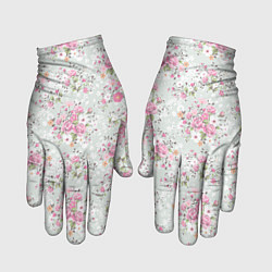 Перчатки Flower pattern цвета 3D — фото 1