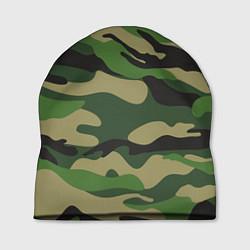 Шапка Камуфляж: хаки/зеленый цвета 3D — фото 1