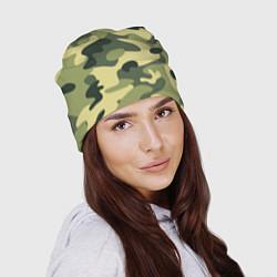Шапка Камуфляж: зеленый/хаки цвета 3D — фото 2