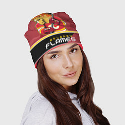 Шапка Calgary Flames цвета 3D-принт — фото 2