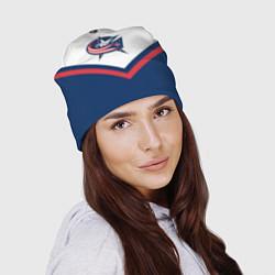 Шапка NHL: Columbus Blue Jackets цвета 3D-принт — фото 2