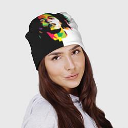 Шапка Bob Marley: Colors цвета 3D-принт — фото 2