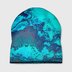 Шапка Лазурные текстуры цвета 3D — фото 1