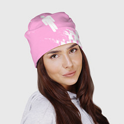Шапка Billie Eilish: Pink Style цвета 3D-принт — фото 2