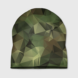 Шапка Полигональный камуфляж цвета 3D-принт — фото 1