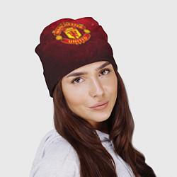 Шапка Манчестер Юнайтед цвета 3D-принт — фото 2