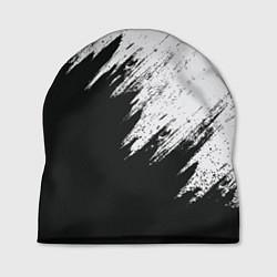 Шапка Черно-белый разрыв цвета 3D — фото 1