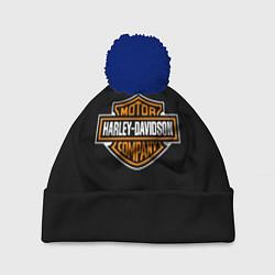 Шапка с помпоном Harley-Davidson: Motor Company цвета 3D-тёмно-синий — фото 1