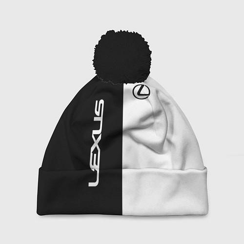 Шапка c помпоном Lexus: Black & White