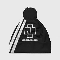 Шапка с помпоном Rammstein: Black цвета 3D-черный — фото 1