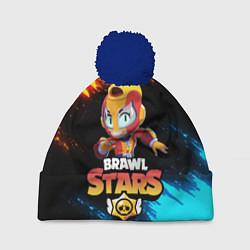 Шапка с помпоном BRAWL STARS MAX цвета 3D-тёмно-синий — фото 1