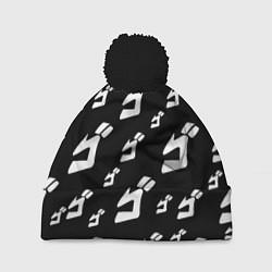 Шапка с помпоном JoJo Bizarre Adventure цвета 3D-черный — фото 1