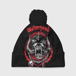 Шапка с помпоном Motorhead цвета 3D-черный — фото 1