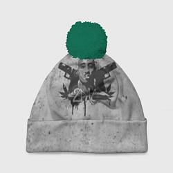 Шапка с помпоном 2Pac Guns цвета 3D-зеленый — фото 1