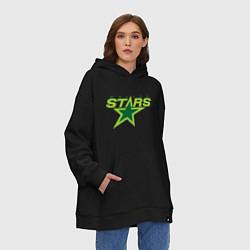 Толстовка-худи оверсайз Dallas Stars цвета черный — фото 2