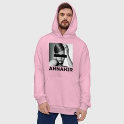 Толстовка-худи оверсайз Rihanna цвета светло-розовый — фото 2