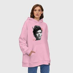 Толстовка-худи оверсайз Harry Styles цвета светло-розовый — фото 2