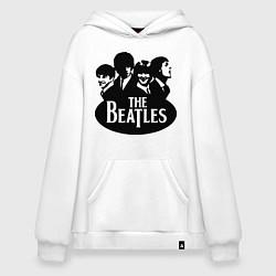 Толстовка-худи оверсайз The Beatles Band цвета белый — фото 1