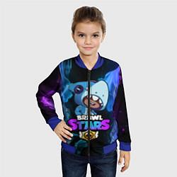 Бомбер детский Brawl Stars LEON цвета 3D-синий — фото 2