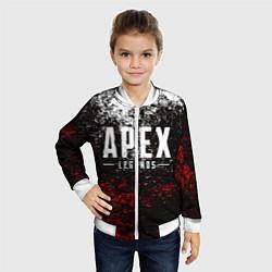 Бомбер детский APEX LEGENDS цвета 3D-белый — фото 2