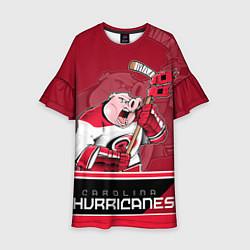 Платье клеш для девочки Carolina Hurricanes цвета 3D — фото 1