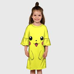 Платье клеш для девочки Пикачу цвета 3D — фото 2