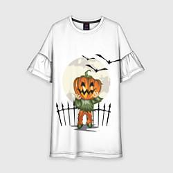 Платье клеш для девочки Halloween цвета 3D-принт — фото 1