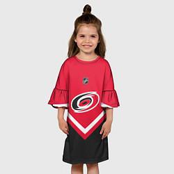 Платье клеш для девочки NHL: Carolina Hurricanes цвета 3D-принт — фото 2