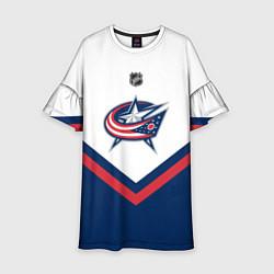 Платье клеш для девочки NHL: Columbus Blue Jackets цвета 3D — фото 1