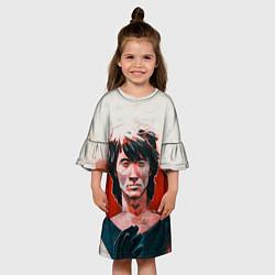Платье клеш для девочки Молодой Цой цвета 3D — фото 2