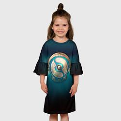 Платье клеш для девочки The International: Blue Aegis цвета 3D-принт — фото 2