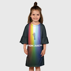Платье клеш для девочки Imagine Dragons цвета 3D — фото 2