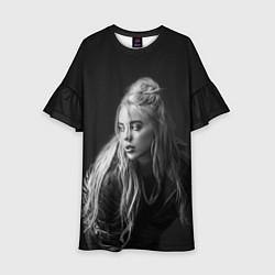 Платье клеш для девочки Billie Eilish: Black Fashion цвета 3D — фото 1