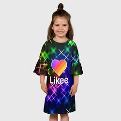 Платье клеш для девочки LIKEE: Like Video цвета 3D — фото 2