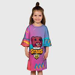 Платье клеш для девочки BRAWL STARS NITA цвета 3D — фото 2