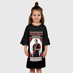 Платье клеш для девочки Серега Есенин цвета 3D — фото 2