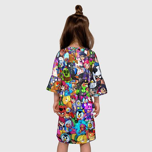 Детское платье BRAWL STATS ВСЕ ПЕРСОНАЖИ / 3D – фото 4