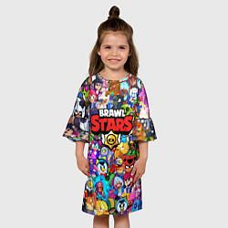 Платье клеш для девочки BRAWL STARS цвета 3D — фото 2