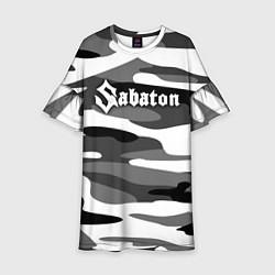 Платье клеш для девочки Камуфляж Sabaton цвета 3D-принт — фото 1