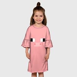 Платье клеш для девочки Minecraft Pig цвета 3D — фото 2