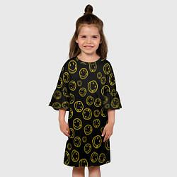 Платье клеш для девочки Nirvana Pattern цвета 3D-принт — фото 2