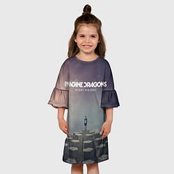 Платье клеш для девочки Imagine Dragons: Night Visions цвета 3D-принт — фото 2
